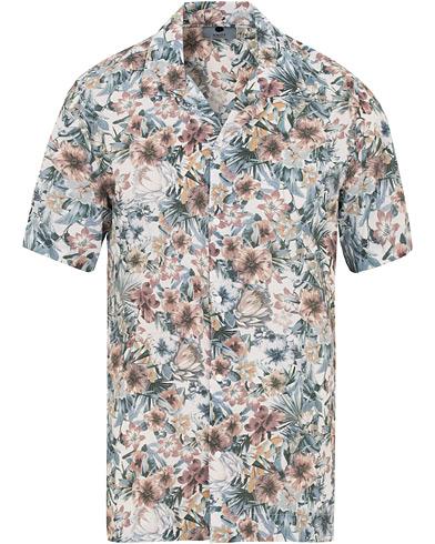 NN07 Miyagi Printed Flower Resort Short Sleeve Shirt White