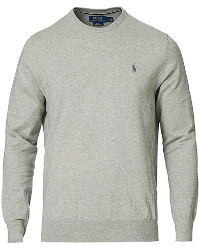 Polo Ralph Lauren Pima Cotton Crew Neck Pullover Andover Heather i gruppen Klær / Gensere / Pullovere rund hals hos Care of Carl (14927411r)