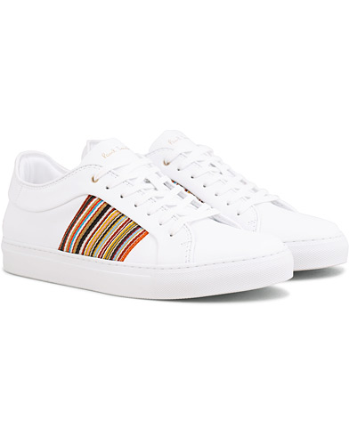 Paul Smith Ivo Leather Stripe Sneaker White i gruppen Sko / Sneakers / Sneakers med lavt skaft hos Care of Carl (14932311r)