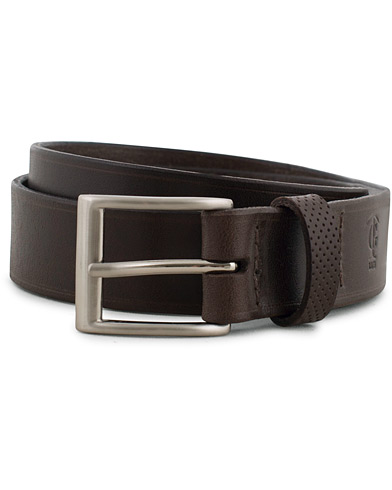 Tärnsjö Garveri Leather Belt 3cm Dark Brown i gruppen Assesoarer / Belter / Umønstrede belter hos Care of Carl (14958111r)
