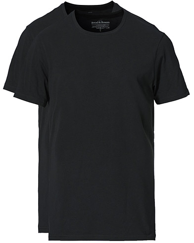 Bread & Boxers 2-Pack Crew Neck Tee Black i gruppen Klær / T-Shirts / Kortermede t-shirts hos Care of Carl (14963211r)