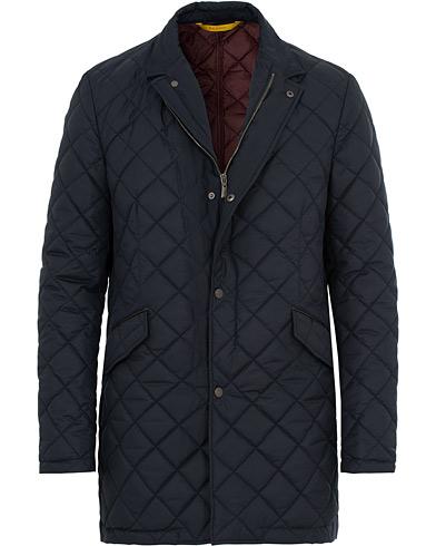 Canali Quilted Jacket Dark Blue