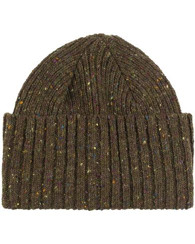 Drake's Merino Wool Donegal Hat Green