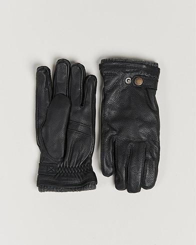 Hestra Utsjö Fleece Liner Buckle Elkskin Glove Black