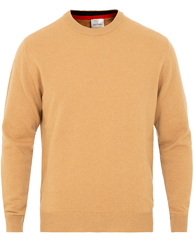Paul Smith Cashmere Crew Neck Beige i gruppen Klær / Gensere / Pullovere rund hals hos Care of Carl (15025411r)