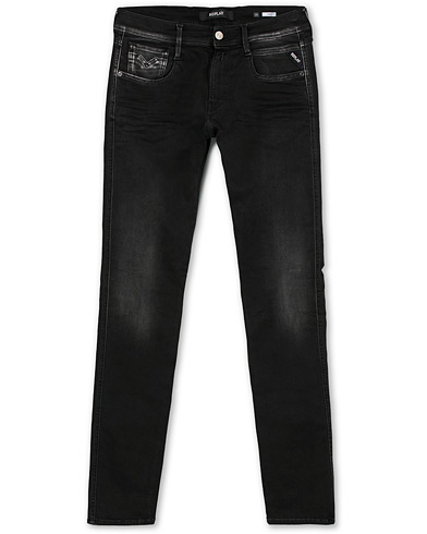 Replay M914 Anbass Hyperflex Jeans Washed Black i gruppen Klær / Jeans / Smale jeans hos Care of Carl (15038411r)