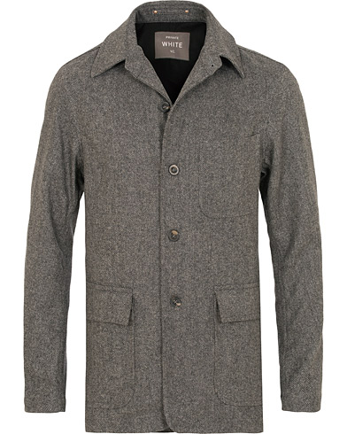 Private White V.C. Wool Shacket Grey i gruppen Klær / Skjorter / Casual / Overshirts hos Care of Carl (15049611r)