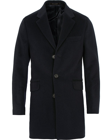 Oscar Jacobson Saks Wool/Cashmere Coat Navy