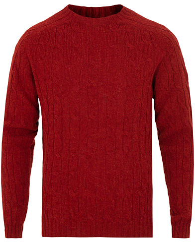 Norse Projects Birnir Cable Lambswool Cabin Red i gruppen Klær / Gensere / Strikkede gensere hos Care of Carl (15107111r)