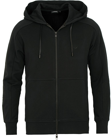 J.Lindeberg Throw Full Zip Hoodie Black i gruppen Klær / Gensere / Hettegensere hos Care of Carl (15120411r)