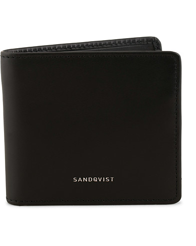 Sandqvist Manfred Vegetable Tanned Leather Wallet Black  i gruppen Assesoarer / Lommebøker / Vanlige lommebøker hos Care of Carl (15140510)