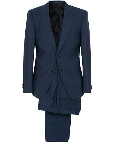 BOSS Helward/Gelvin Peak Lapel Wool Suit Navy
