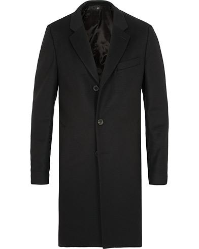 BOSS Nye Wool/Cashmere Coat Black