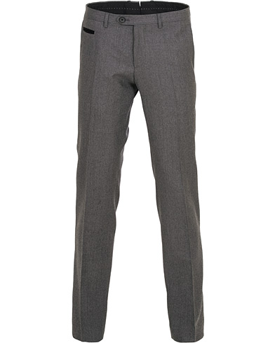 BOSS Wilhelm Wool Trousers Open Grey i gruppen Klær / Bukser / Flanellbukser hos Care of Carl (15153111r)