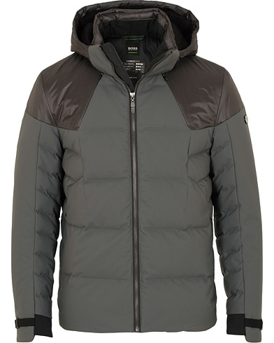 BOSS Athleisure Jeiko Down Hooded Jacket Grey i gruppen Klær / Jakker / Dunjakker hos Care of Carl (15157711r)