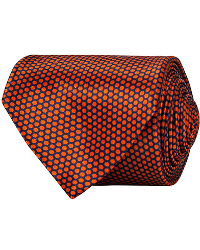 Stenströms Silk Honeycomb 8 cm Tie Orange  i gruppen Assesoarer / Slips hos Care of Carl (15185410)