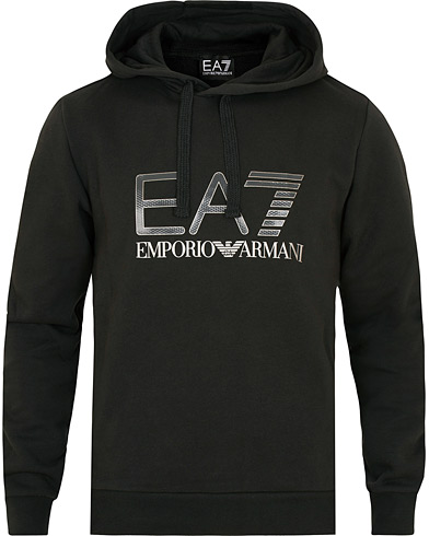 EA7 Train Logo Serious Hoodie Black i gruppen Klær / Gensere / Hettegensere hos Care of Carl (15192611r)