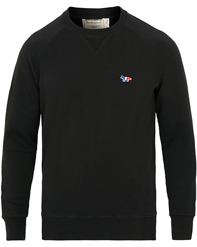 Maison Kitsuné Sweatshirt Tricolor Fox Patch Black i gruppen Klær / Gensere / Sweatshirts hos Care of Carl (15199011r)