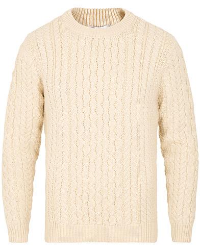 Sunspel Fisherman Sweater Archive White
