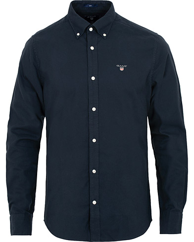 GANT Slim Fit Brushed Oxford Shirt Marine i gruppen Klær / Skjorter / Casual / Oxfordskjorter hos Care of Carl (15213811r)