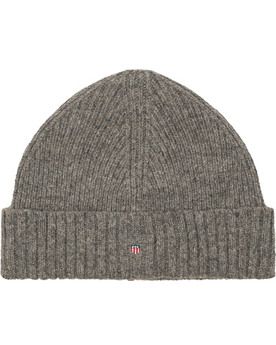 GANT Wool Lined Beanie Dark Grey Melange  i gruppen Assesoarer / Luer hos Care of Carl (15215810)