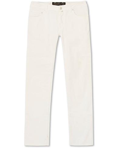 Jacob Cohën 5-Pocket Gabardine Trousers Off White