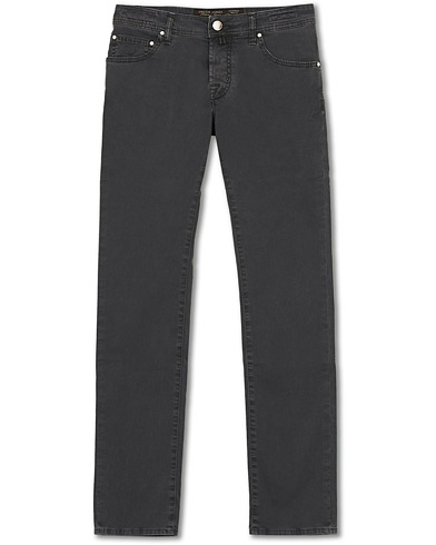 Jacob Cohën 5-Pocket Gabardine Trousers Dark Grey i gruppen Klær / Bukser / 5-lommersbukser hos Care of Carl (15228311r)