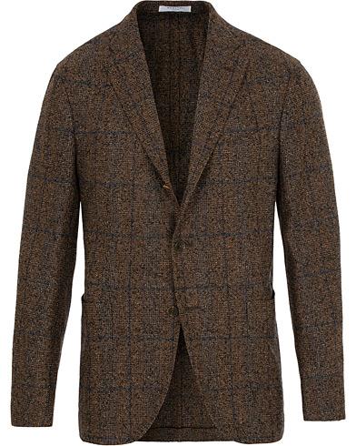 Boglioli K Jacket Wool Glencheck Blazer Brown