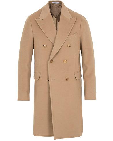 Boglioli K Jacket Double Breasted Wool Coat Beige