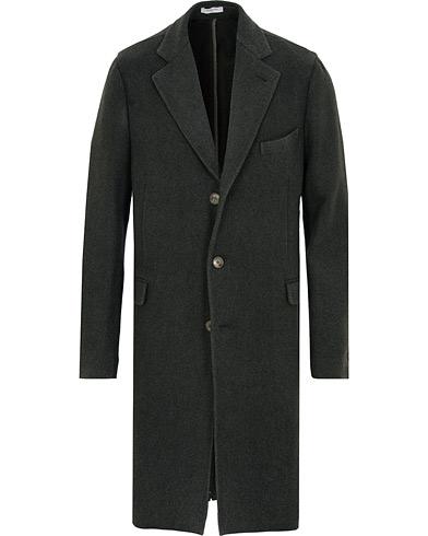 Boglioli K Jacket Garment Dyed Wool Cashmere Coat Green