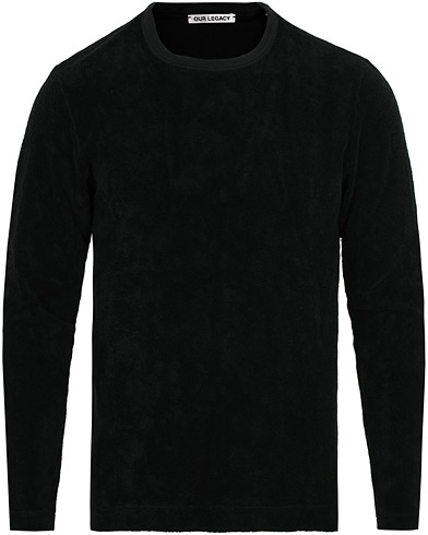Our Legacy Long Sleeve Terry Sweat Black