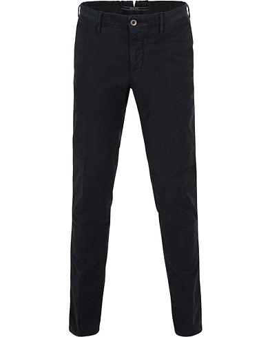 Incotex Slim Fit Garment Dyed Washed Slacks Navy