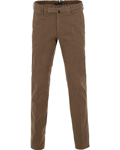 Incotex Slim Fit Comfort Chino Dark Putty i gruppen Klær / Bukser / Chinos hos Care of Carl (15248111r)