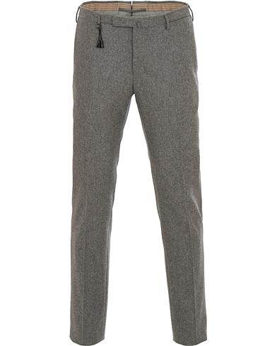 Incotex Super 100's Flannel Trousers Medium Grey
