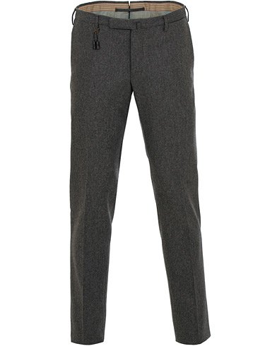 Incotex Super 100's Flannel Trousers Charcoal