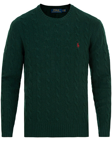 Polo Ralph Lauren Wool/Cashmere Cable Crew Neck College Green