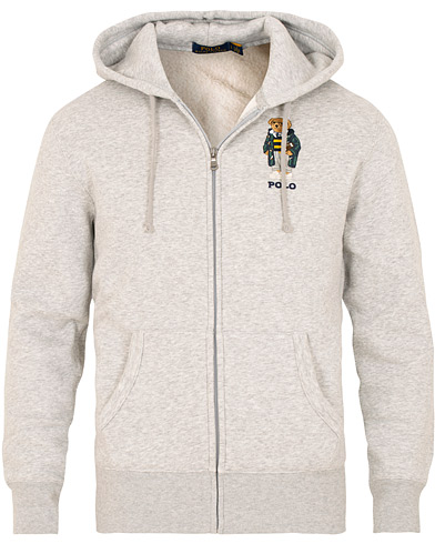 Polo Ralph Lauren Bear Full Zip Hoodie Andover Heather i gruppen Klær / Gensere / Hettegensere hos Care of Carl (15277011r)