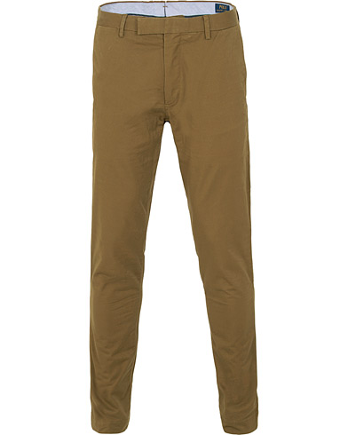 Polo Ralph Lauren Tailored Slim Fit Chinos Nature Brown i gruppen Klær / Bukser / Chinos hos Care of Carl (15282211r)