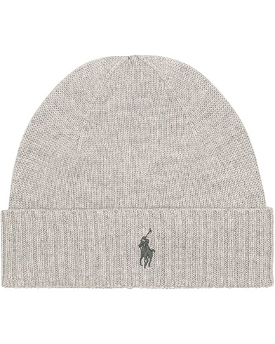 Polo Ralph Lauren Merino Cap Fawn Grey Heather  i gruppen Assesoarer / Luer hos Care of Carl (15287910)