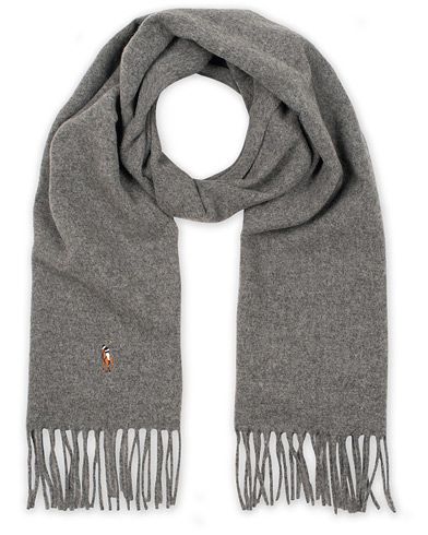 Polo Ralph Lauren Signature Scarf Fawn Grey Heather i gruppen Assesoarer / Skjerf hos Care of Carl (15288910)
