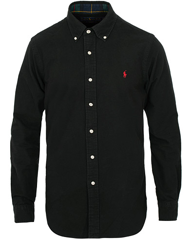 Polo Ralph Lauren Slim Fit Flannel Shirt Black i gruppen Klær / Skjorter / Casual / Flanellskjorter hos Care of Carl (15290511r)
