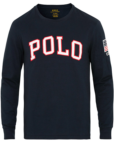 Polo Ralph Lauren Polo Long Sleeve Crew Neck Tee Navy i gruppen Klær / T-Shirts / Langermede t-shirts hos Care of Carl (15291611r)