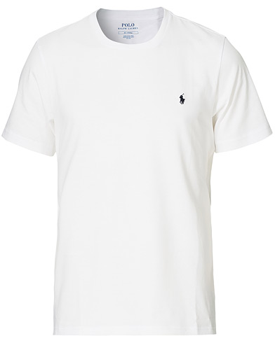 Polo Ralph Lauren Liquid Cotton Crew Neck Tee White i gruppen Klær / T-Shirts / Kortermede t-shirts hos Care of Carl (15294911r)