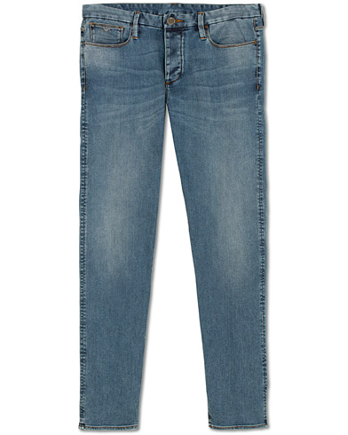 Emporio Armani Extra Slim Fit Jeans Mid Blue i gruppen Klær / Jeans / Smale jeans hos Care of Carl (15314111r)