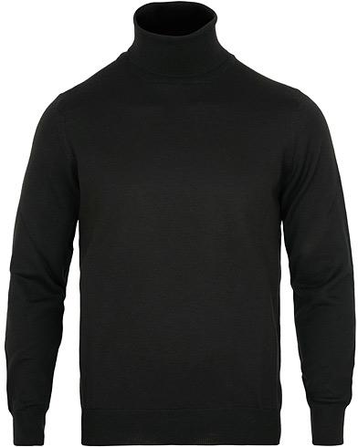 Gran Sasso Merino Fashion Fit Rollneck Black