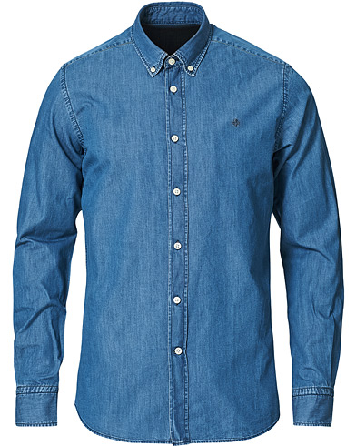 Morris Julian Botton Down Denim Shirt Light Wash i gruppen Klær / Skjorter / Casual / Jeansskjorter hos Care of Carl (15342511r)