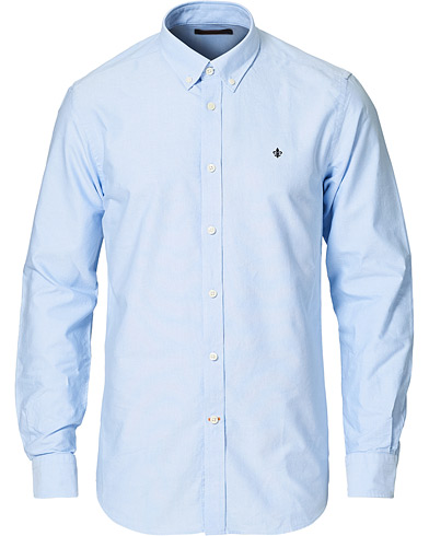 Morris Oxford Button Down Cotton Shirt Light Blue i gruppen Klær / Skjorter / Casual / Oxfordskjorter hos Care of Carl (15342811r)