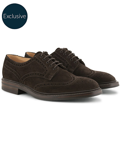 Loake 1880 Chester MTO  Dainite Brogue Dark Brown Suede