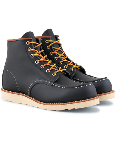 Red Wing Shoes Moc Toe Boot Navy Portage Leather i gruppen Sko / Støvler / Snørestøvler hos Care of Carl (15351411r)