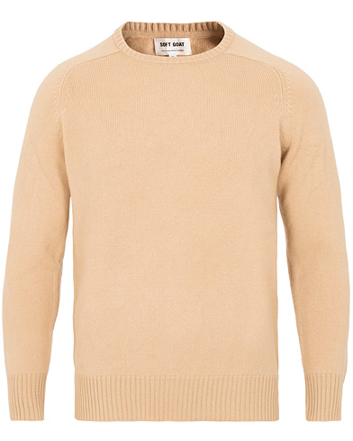 Soft Goat Cashmere Saddle Neck Camel i gruppen Klær / Gensere / Strikkede gensere hos Care of Carl (15358011r)